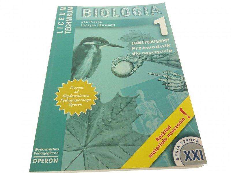 BIOLOGIA 1 PRZEWODNIK DLA NAUCZYCIELA Prokop 2002