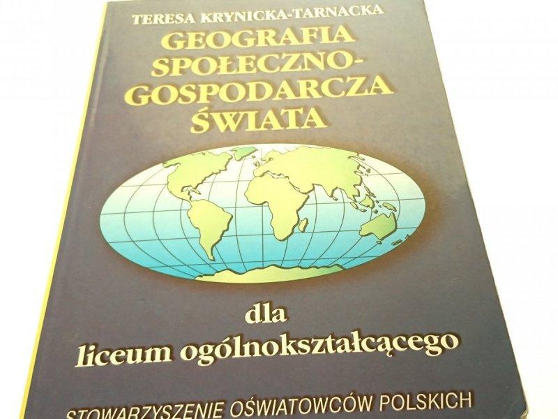 GEOGRAFIA SPOŁECZNO-GOSPODARCZA ŚWIATA 2000