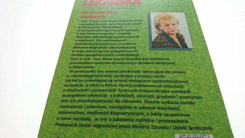 MIKROBIOLOGIA LEKARSKA DLA STUDENTÓW Zaremba 1997