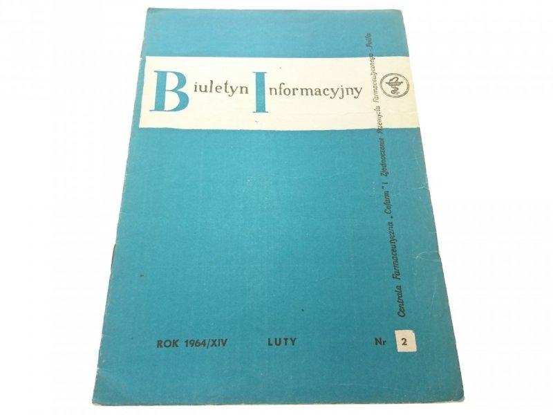 BIULETYN INFORMACYJNY ROK 1964/XIV LUTY NR 2