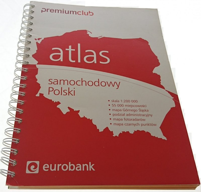 POLSKA ATLAS DROGOWY SKALA 1:200 000 (2008)
