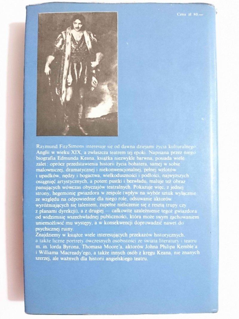 EDMUND KEAN. OGIEŃ Z NIEBIOS - Raymund FitzSimons 1981