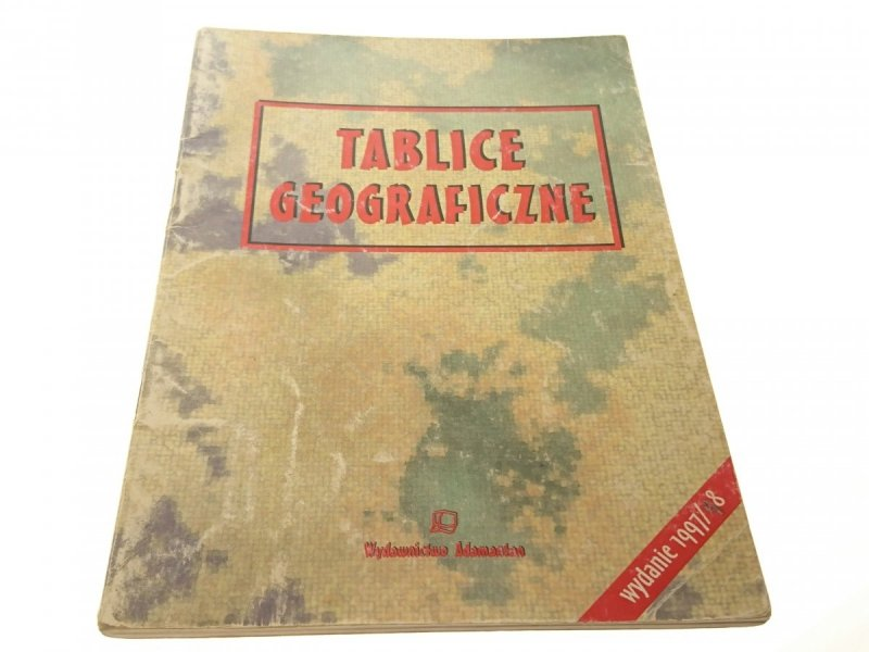 TABLICE GEOGRAFICZNE 1997