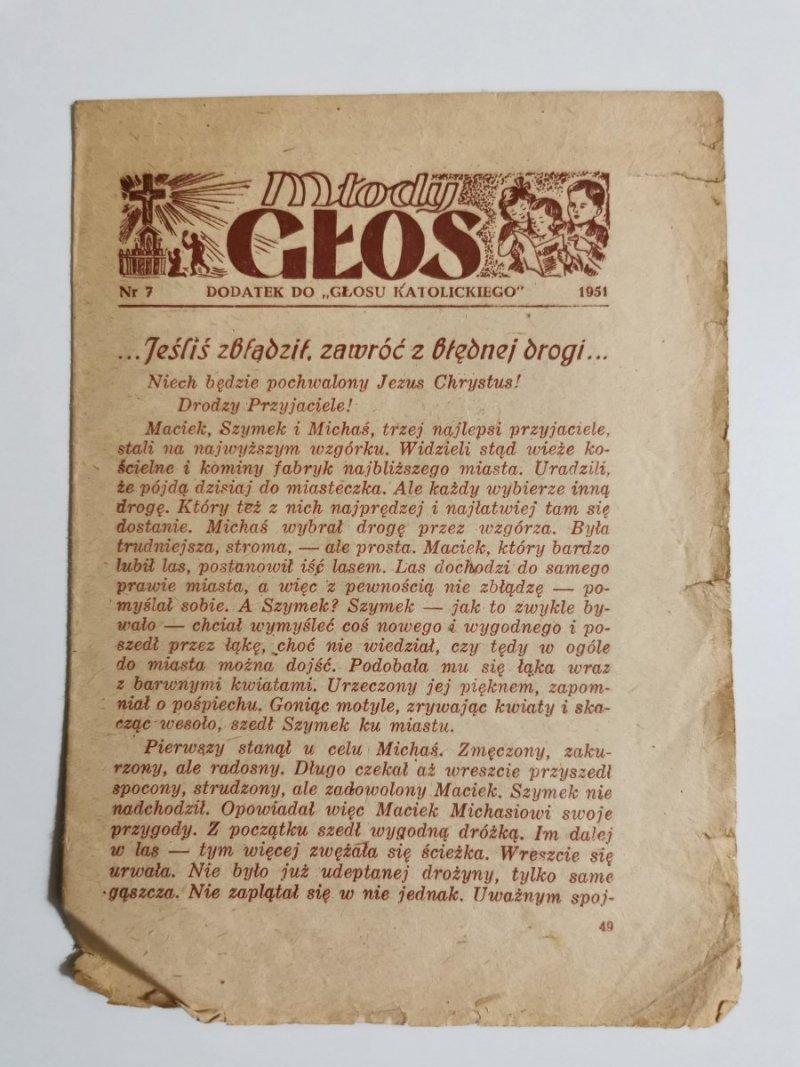 MŁODY GŁOS DODATEK DO GŁOSU KATOLICKIEGO NR 7 1951