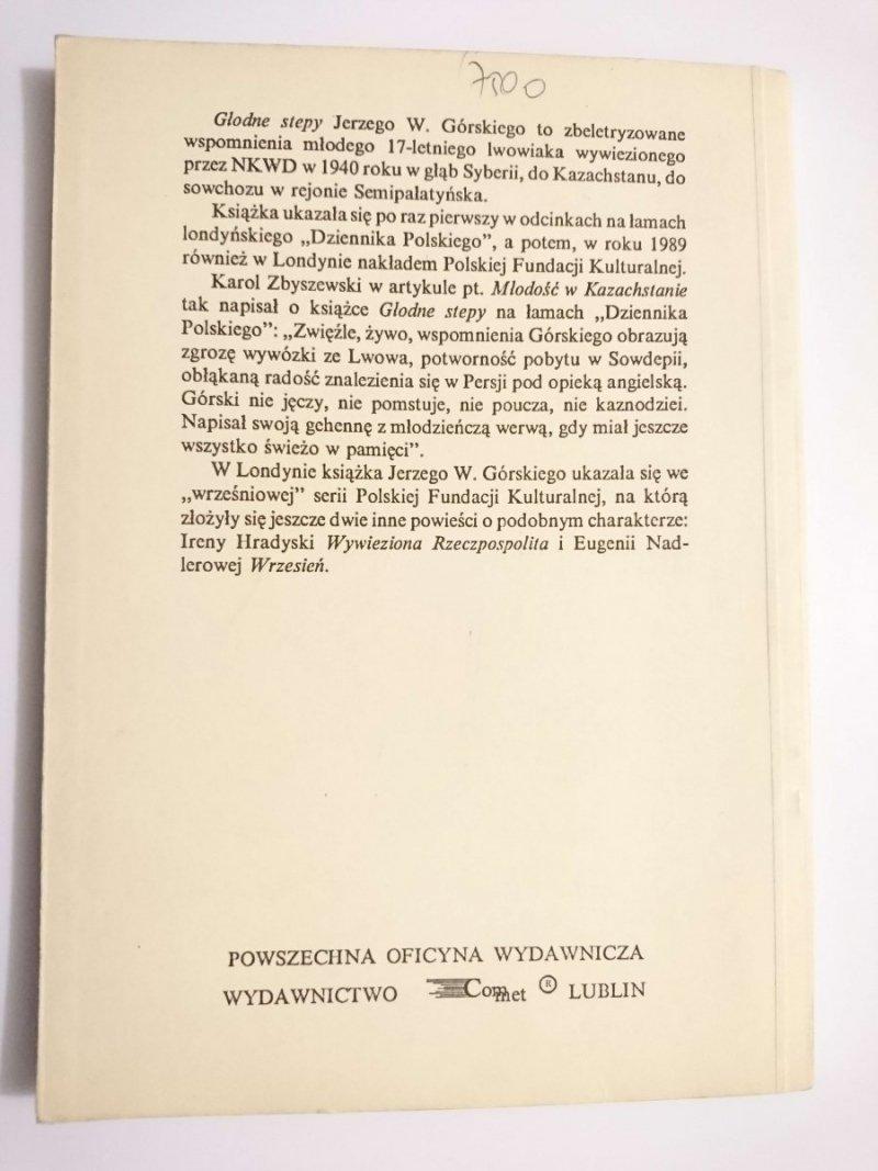 GŁODNE STEPY - Jerzy W. Górski 1989