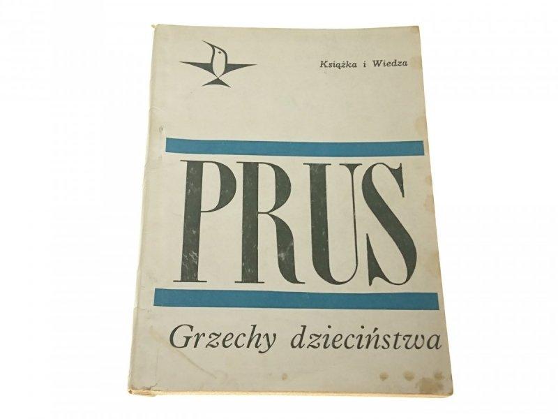 GRZECHY DZIECIŃSTWA - Bolesław Prus 1968