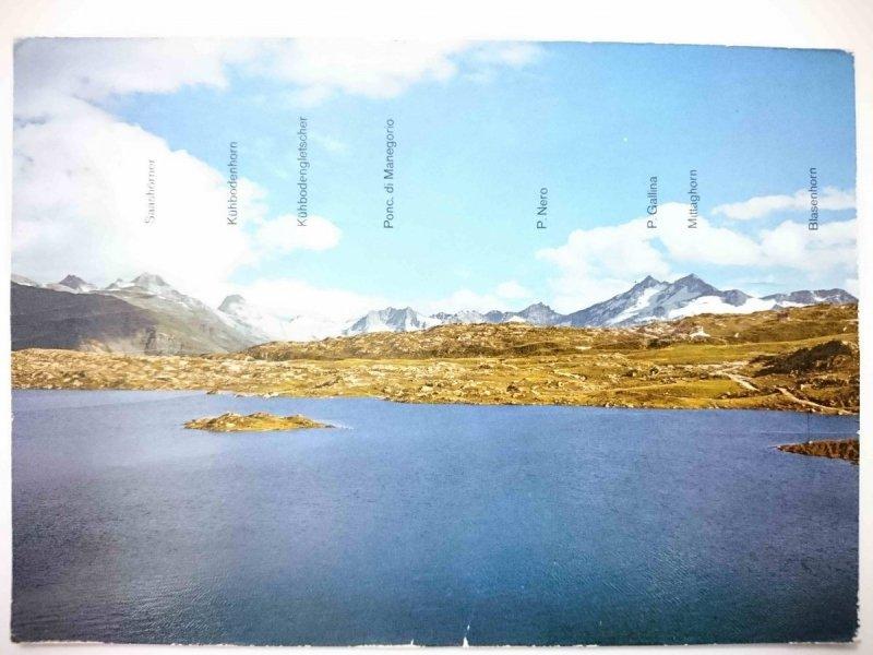 GRIMSEL-PASSHOHE  2165 m TOTENSEE MIT WALLISERALPEN