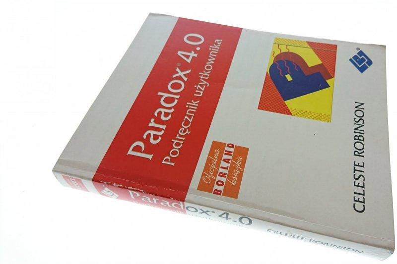PARADOX 4.0 PODRĘCZNIK UŻYTKOWNIKA - Robinson 1993