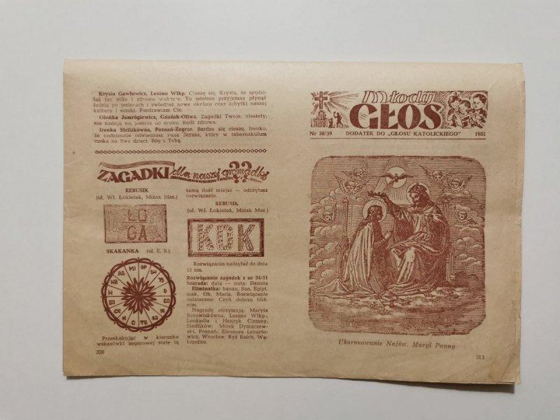 MŁODY GŁOS DODATEK DO GŁOSU KATOLICKIEGO NR 38/39 1951