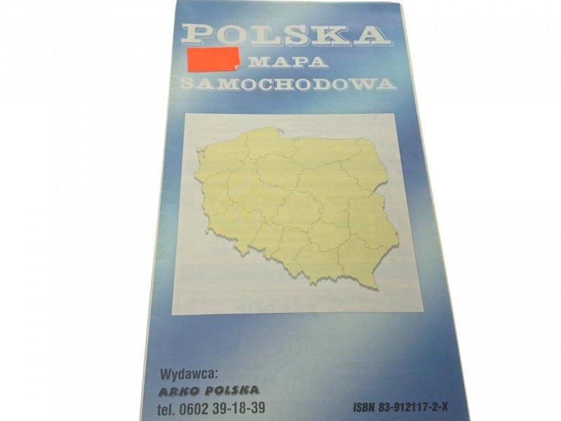 POLSKA MAPA SAMOCHODOWA 1: 1 000 000