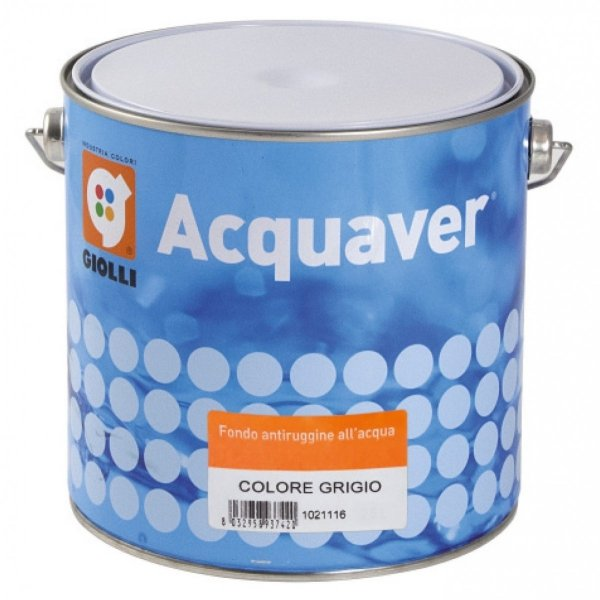 ACQUAVER FONDO ANTIRUGGINE - 0,75L (grunt antykorozyjny do metalu)