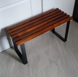 Ławka metalowo drewniana  K