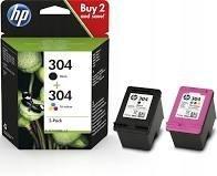 N9K05AE HP304 oryginalny tusz trójkolorowy standardowej wydajności do HP Desk jet 2620 2630 3720 3721 3722 3730 3732 3733 3735 3752 3755 3758. Pojemność 4 ml. Wydajność 100 stron.