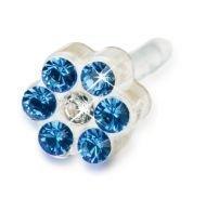 BLOMDAHL - 12-0114-43 DAISY 5mm Sapphire/ Crysta