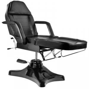 Fotel kosmetyczny hydrauliczny A-234 - obrotowy - czarny