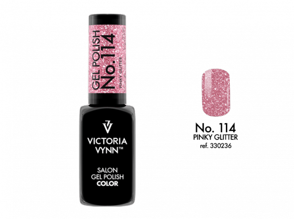 Victoria Vynn Gel Polish Color - Pinky Glitter No.114 8 ml