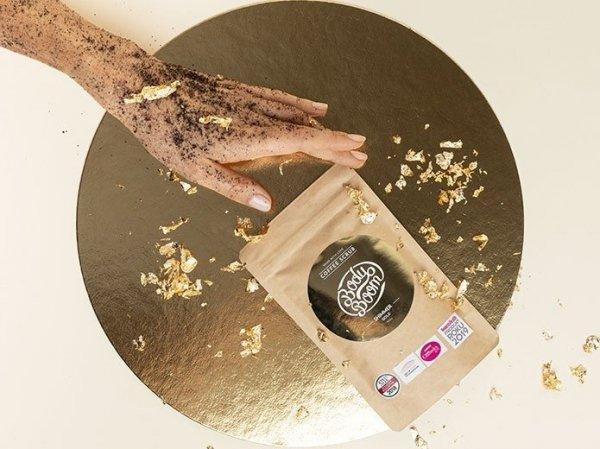 Body Boom Peeling Kawowy Błyskotliwy Prowokator Shimmer Gold 30g