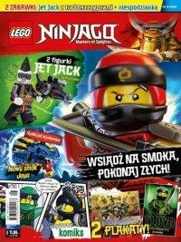 LEGO Ninjago magazyn 8/2018 + JET JACK z turboszczypcami