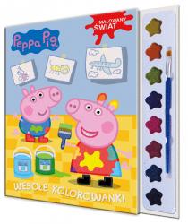 Świnka Peppa Malowany świat 1 Wesołe kolorowanki (z farbkami)