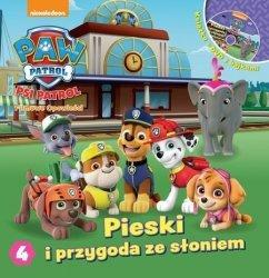Psi Patrol Filmowe opowieści 4 Pieski i przygoda ze słoniem (książka + DVD)