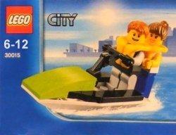 Scooby-Doo! Zestaw 2 książki + LEGO City 30015 Skuter wodny