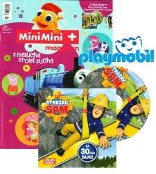 MiniMini+ magazyn 1/2016 + DVD Strażak Sam + figurka Playmobil + książka