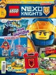 LEGO Nexo Knights magazyn 1/2017 + CLAY + stojak treningowy + Moc Nexo