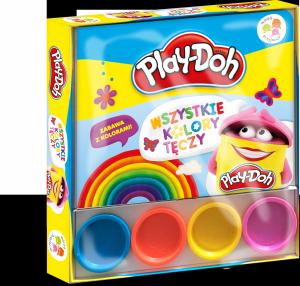Play-Doh Wśród przyjaciół Wszystkie kolory tęczy (4 tubki ciastoliny)