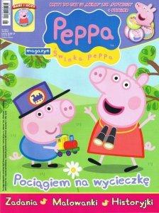 Świnka Peppa magazyn 07/2013 + karty memo i pudełko