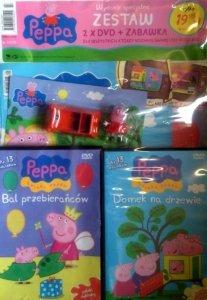 Świnka Peppa magazyn Wydanie specjalne zestaw 2 x DVD (Bal przebierańców i Domek na drzewie) + PREZENT