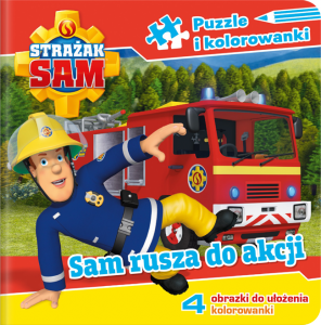Strażak Sam Puzzle i kolorowanki 1 Sam rusza do akcji