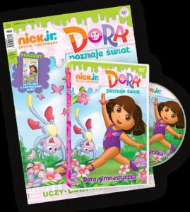 Nick Jr. edycja limitowana 2/2017 + DVD Dora gimnastyczką