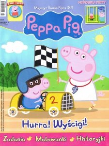 Świnka Peppa magazyn 3/2015 Hurra! Wyścigi! + Huśtawka Peppy
