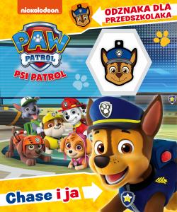 Psi Patrol Odznaka dla przedszkolaka 1 Chase i ja