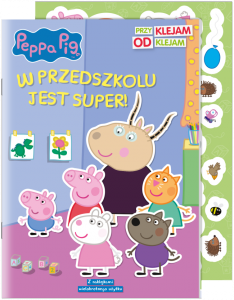 Świnka Peppa Przyklejam odklejam 2 W przedszkolu jest super!