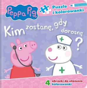 Świnka Peppa Puzzle i kolorowanki 2 Kim zostanę, gdy dorosnę?