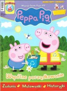 Świnka Peppa magazyn 9/2015 Wspólne porządkowanie + WANNA