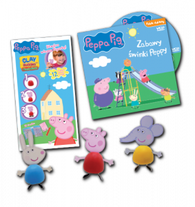 Świnka Peppa magazyn 7/2015 Kiermasz zabawek + plastelinki + VCD