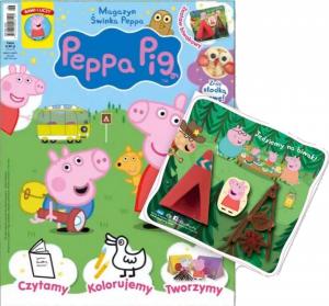 Świnka Peppa magazyn 5/2019 + zestaw Jedziemy na biwak