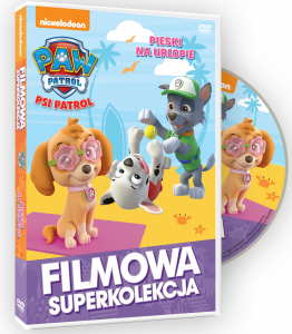 Filmowa Superkolekcja Psi Patrol Pieski na urlopie DVD