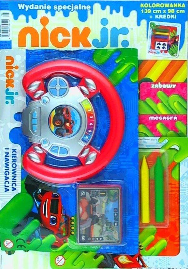 Nick Jr. magazyn Wydanie specjalne 1/2017 Kolorowanka podłogowa + kierownica Blaze i Megamaszyny