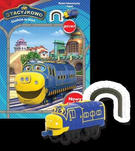 Stacyjkowo Ciuchcie na start zestaw 4 lokomotyw + prezent