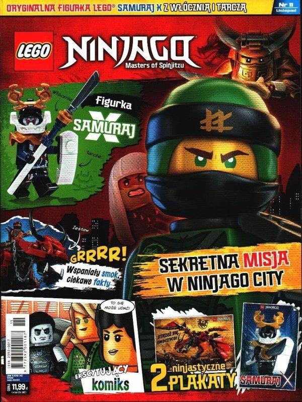 LEGO Ninjago magazyn 11/2018 + SAMURAJ X