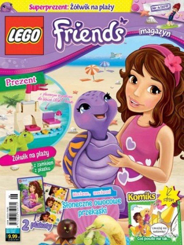 LEGO Friends magazyn 4/2017 + żółwik na plaży