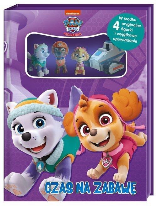 Psi Patrol Czas na zabawę + książka i 4 figurki (Everest i Skye )