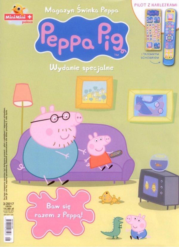 Świnka Peppa magazyn Wydanie specjalne Pilot z naklejkami i tajemnym schowkiem 3/2017