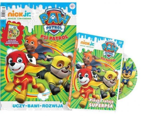 Nick Jr. edycja limitowana 2/2018 + DVD Psi Patrol Pieski ratują Superpsa