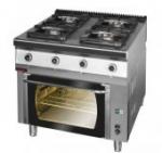 Kuchnia gazowa z piekarnikiem elektrycznym  800x700x900 mm KROMET 700.KG-4/PE-1 700.KG-4/PE-1