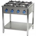 Kuchnia gazowa wolnostojąca 900 - 4 palnikowa z półką 24kW - G30 (propan-butan)
