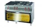 Kuchnia gazowa z płytą grzewczą  1200x700x900 mm KROMET 700.KG-4/I-400.T 700.KG-4/I-400.T